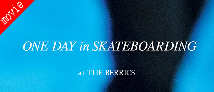 THE BERRICS -ONE DAY in SKATEBOARDING-