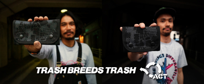 TRASH BREEDS TRASH x ACT -TRASHBREEDSTRASH×ACT コラボポシェット-