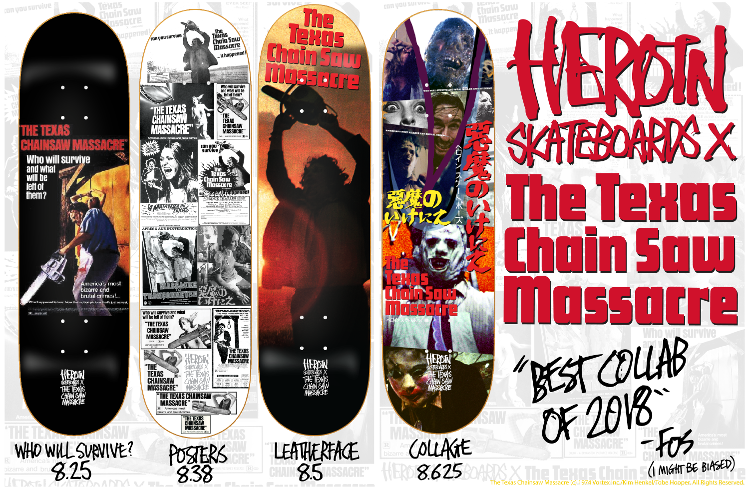 HEROIN SKATEBOARDS 2018 SPRING